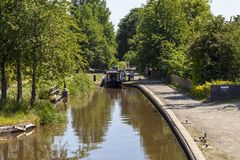 Canal novo de Llangollen do fechamento da parte superior do marton Foto de Stock
