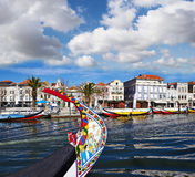 Canal Of Aveiro, Portugal Royalty Free Stock Photos