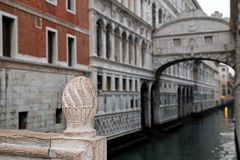 Canal between old buildings in Venice, Italy Royalty Free Stock Photography