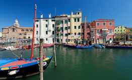 Canal at the old town of Chioggia Royalty Free Stock Photo