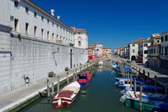 Canal at the old town of Chioggia Stock Photo