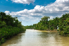 Canal over Marajo river in Belem do Para, Brazil.  Stock Image