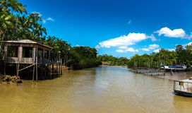 Canal over Marajo river in Belem do Para, Brazil.  Royalty Free Stock Photo