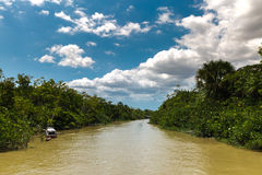 Canal over Marajo river in Belem do Para, Brazil.  Stock Photos