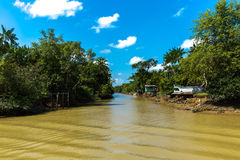 Canal over Marajo river in Belem do Para, Brazil.  Royalty Free Stock Images
