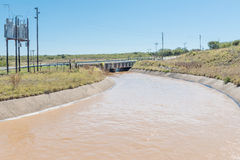Canal in the Ovis water scheme Stock Photo