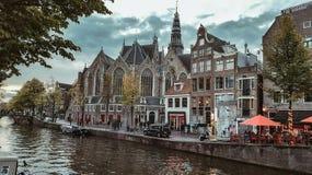 Canal Países Baixos de Amsterdão Fotografia de Stock Royalty Free
