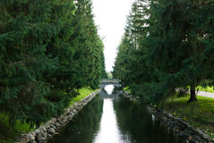 Canal in the park Stock Photography