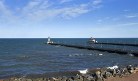 Canal Park. Located in Duluth, Minnesota Royalty Free Stock Images