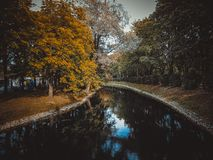 Canal in the park royalty free stock photos