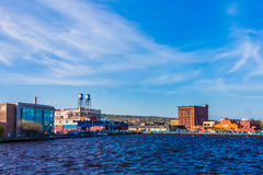 Canal Park From Bay Royalty Free Stock Images
