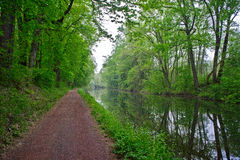 Canal and Path, New Hope, Pennsylvania Stock Images