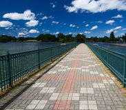 Canal path. A canal path from Owasco Lake Emerson Park in Upstate New York Royalty Free Stock Photography