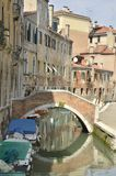 Canal pequeno em Santa Croce fotos de stock royalty free