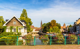 Canal in Petite France area, Strasbourg Royalty Free Stock Image