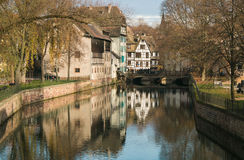 Canal in Petite France area, Strasbourg Stock Photography