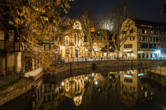 Canal in Petite France area, Strasbourg. Alsace - France Royalty Free Stock Photos