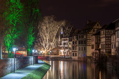 Canal in Petite France area, Strasbourg, Alsace - France Stock Image