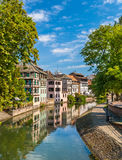 Canal in Petite France area, Strasbourg, France Stock Photos