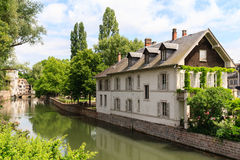 Canal in Petite France area, Strasbourg, France Stock Image