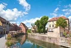 Canal Petite Venice, Colmar, France Stock Image