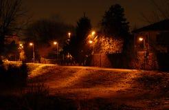 Canal Piovego na noite de Pádua Imagens de Stock Royalty Free