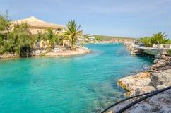 Canal près de l'académie d'entrée et de dauphin d'aquarium de mer du Curaçao Photo stock