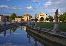Canal of Prato della Valle square, Padua, Italy Royalty Free Stock Photo