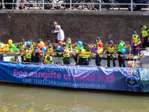 Canal pride in Utrecht - the Netherlands stock image