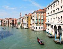 Canal principal em Veneza. imagens de stock