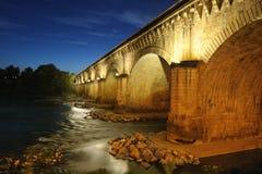 Canal-puente-dos Fotos de archivo libres de regalías
