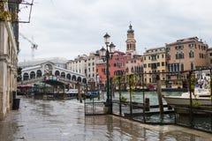 Canal and Realto bridge  in Venice, Italy Royalty Free Stock Photos