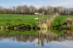 The canal reflections. Stock Photography