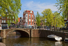 Canal ring in Amsterdam, Netherland Stock Image