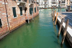 Canal Rio della Salute and Grand Canal in Venice, Italy. Canal Rio della Salute and Grand Canal in summer day. Venice, Italy royalty free stock image