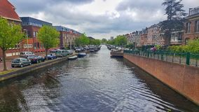 Canal River, Leiden stock photo