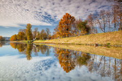 Canal for river steamers in Troja Stock Image