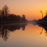 Canal for river steamers in Troja Royalty Free Stock Photos