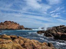 Canal Rocks. Near Gunyulgup / Yallingup, Western Australia, Australia Royalty Free Stock Photos
