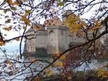 Castillo de Chillon. Lago Leman Suiza stock images