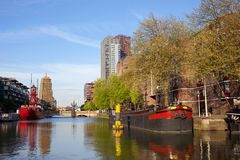 Canal in Rotterdam Stock Image