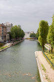 Canal Saint Martin Paris. Canal Saint martin in Paris royalty free stock photo
