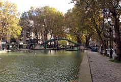 Canal Saint-Martin - Paris Stock Photo