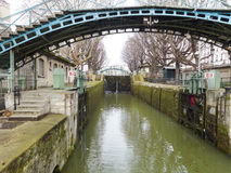 Canal Saint-Martin in Paris Stock Photography