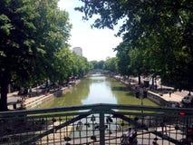 The Canal Saint-Martin in Paris Stock Photos