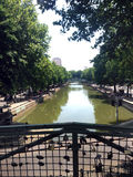 The Canal Saint-Martin in Paris Royalty Free Stock Photo