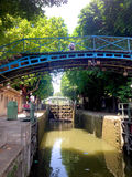 The Canal Saint-Martin in Paris Royalty Free Stock Photography