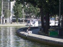 Canal Saint-Martin, Paris Stock Images