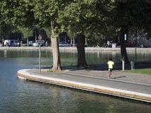 Canal Saint-Martin, Paris Royalty Free Stock Photo