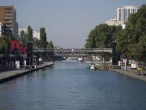 Canal Saint-Martin, Paris Royalty Free Stock Image